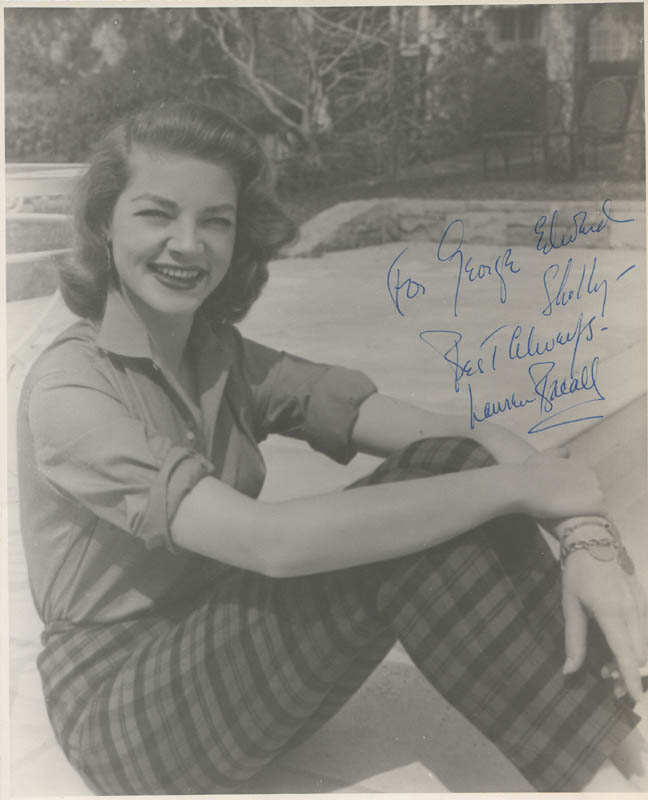 Image 1 for Lauren Bacall - Autographed Inscribed Photograph - HFSID 284295