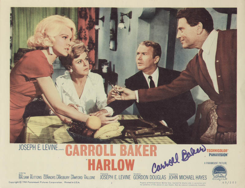 Image 1 for Carroll Baker - Lobby Card Signed - HFSID 284309
