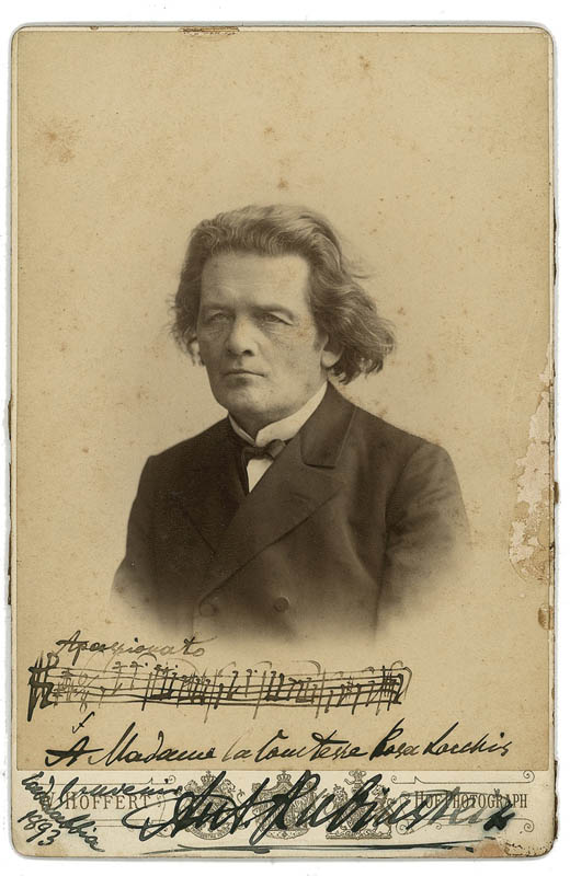 Image 1 for Anton Rubinstein - Autograph Musical Quotation On Photo Signed Circa 1893 - HFSID 284379