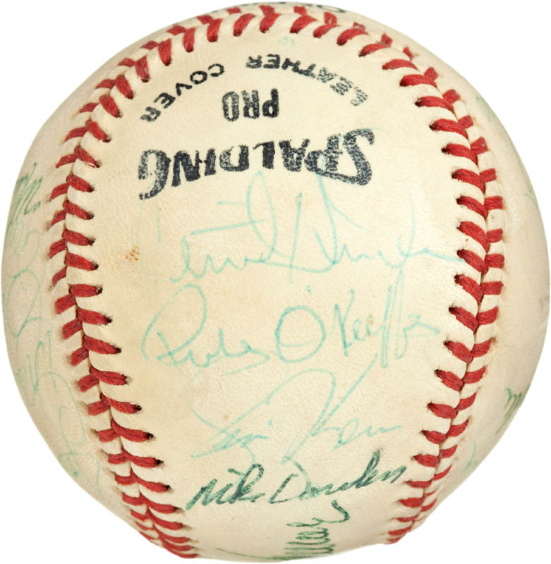 Image 5 for Cincinnati Reds - Autographed Signed Baseball with co-signers - HFSID 284442