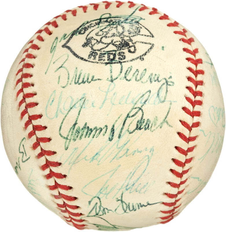 Image 6 for Cincinnati Reds - Autographed Signed Baseball with co-signers - HFSID 284442