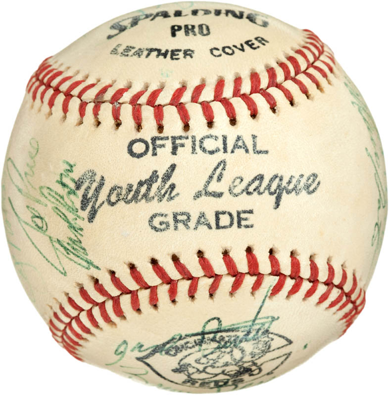 Image 7 for Cincinnati Reds - Autographed Signed Baseball with co-signers - HFSID 284442