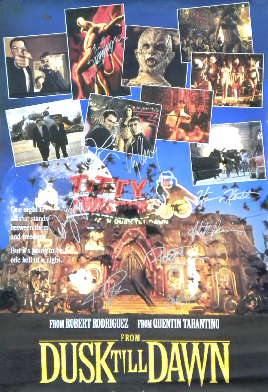 Image 1 for From Dusk Til Dawn Movie Cast - Autographed Signed Poster with co-signers - HFSID 284448