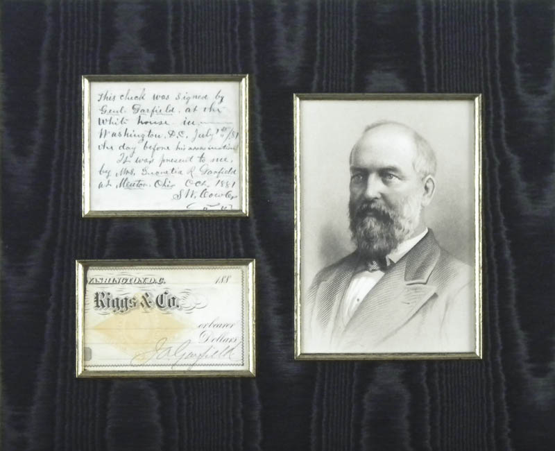 Image 1 for President James A. Garfield - Partial Check Signed - HFSID 284449