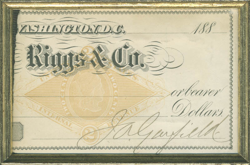 Image 3 for President James A. Garfield - Partial Check Signed - HFSID 284449
