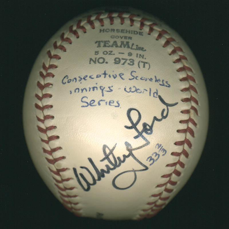 Image 1 for Whitey Ford - Autographed Signed Baseball - HFSID 284592
