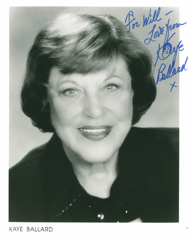 Image 1 for Kaye Ballard - Autographed Inscribed Photograph - HFSID 284713