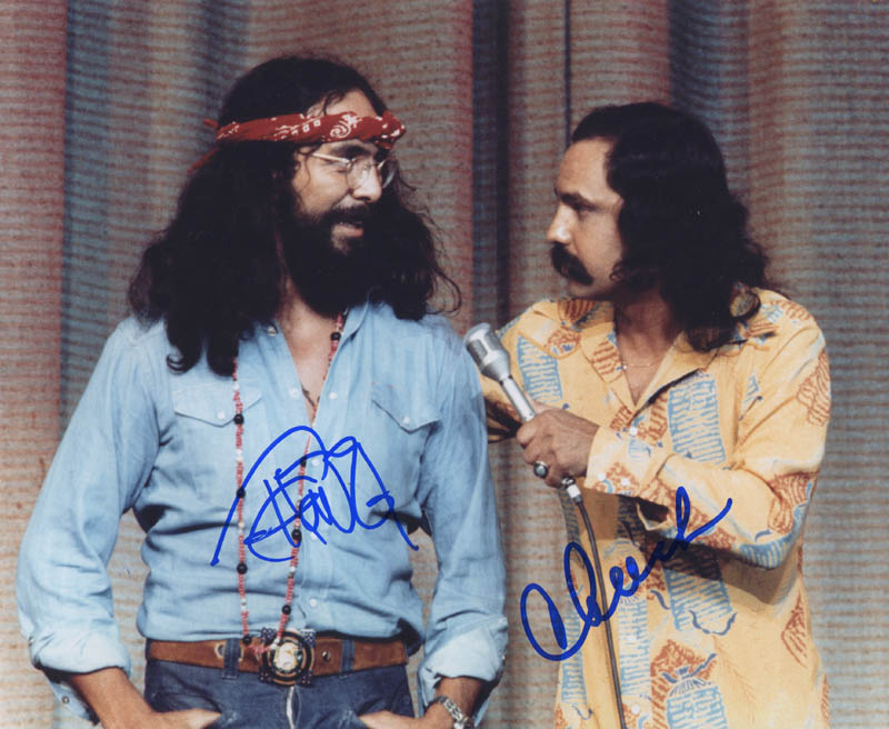 Image 1 for Cheech & Chong - Autographed Signed Photograph co-signed by: Cheech & Chong (Cheech Marin), Cheech & Chong (Tommy Chong) - HFSID 284747