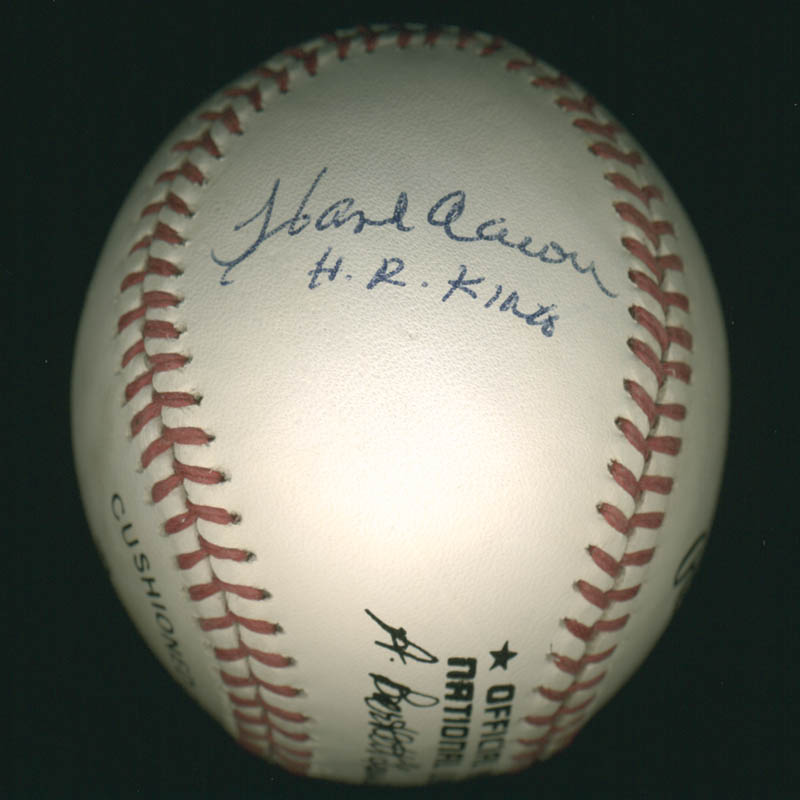 Image 3 for Hank Aaron - Autographed Signed Baseball co-signed by: Pete Rose, Nolan Ryan - HFSID 284811