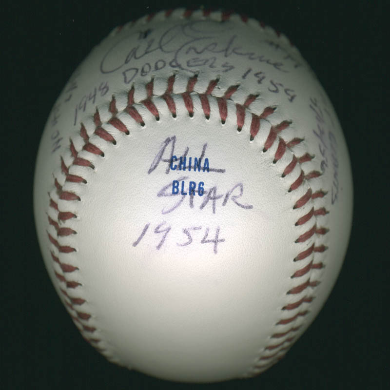 Image 3 for Carl Erskine - Annotated Baseball Signed - HFSID 284812