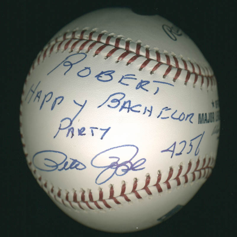 Image 1 for Pete Rose - Inscribed Baseball Signed - HFSID 284824