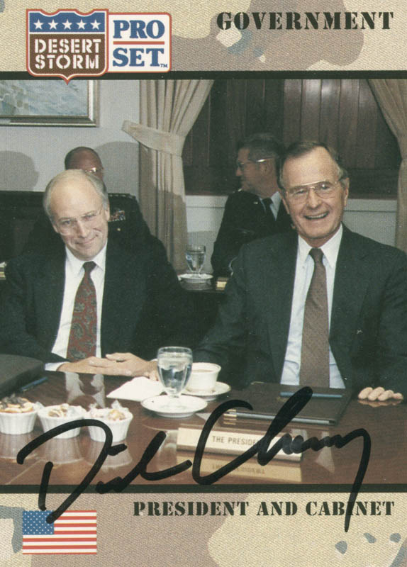 Image 1 for Vice President Dick Cheney - Trading/Sports Card Signed - HFSID 284846