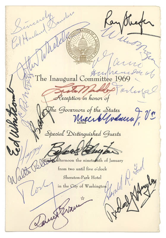 Image 1 for President Gerald R. Ford - Program Signed Circa 1969 with co-signers - HFSID 284953