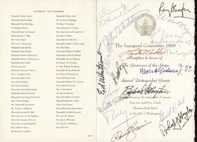 Image 3 for President Gerald R. Ford - Program Signed Circa 1969 with co-signers - HFSID 284953