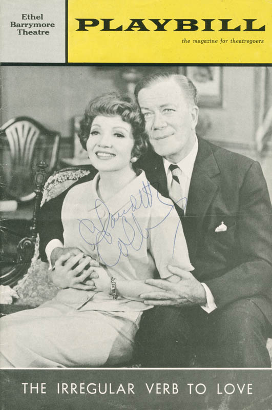 Image 1 for Claudette Colbert - Show Bill Signed Circa 1963 - HFSID 285035