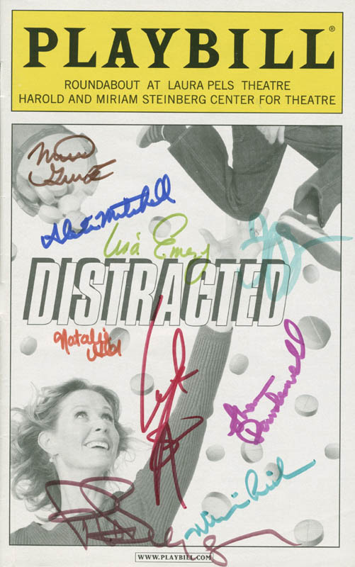 Image 1 for Distracted Play Cast - Show Bill Signed with co-signers - HFSID 285041
