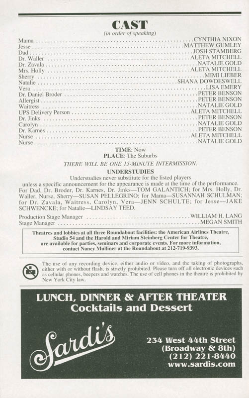Image 4 for Distracted Play Cast - Show Bill Signed with co-signers - HFSID 285041