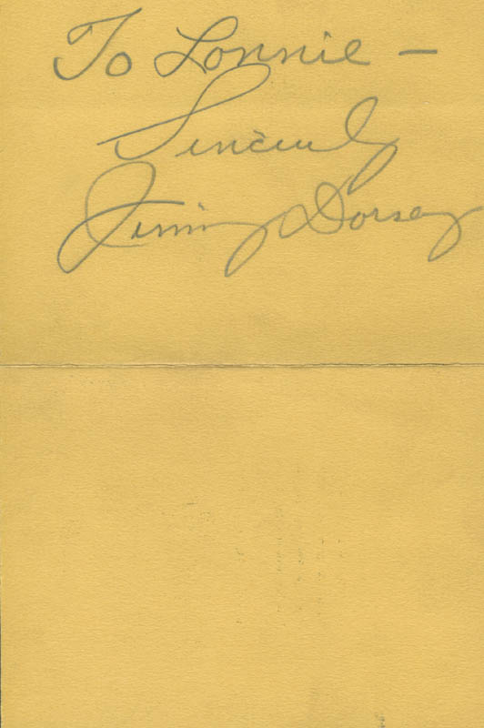Image 1 for Jimmy Dorsey - Autograph Note Signed - HFSID 285078