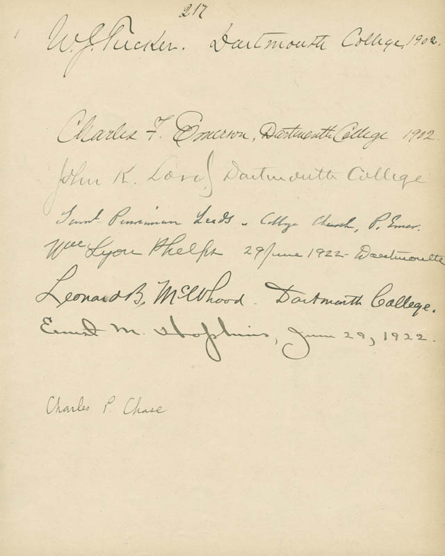 Image 1 for William Jewett Tucker - Autograph 1902 with co-signers - HFSID 285117