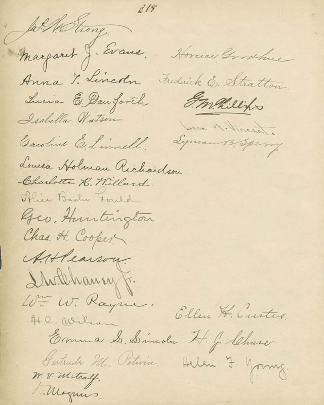 Image 3 for William Jewett Tucker - Autograph 1902 with co-signers - HFSID 285117