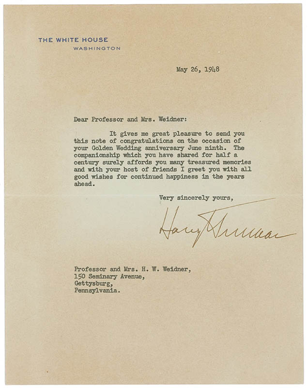 Image 1 for President Harry S Truman - Typed Letter Signed 05/26/1948 - HFSID 285190
