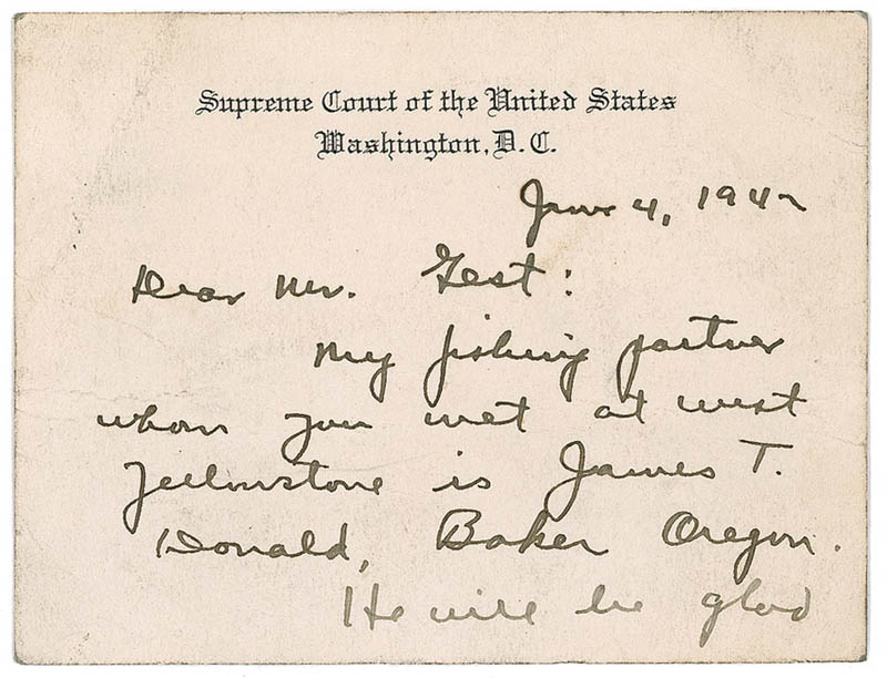 Image 1 for Associate Justice William O. Douglas - Autograph Letter Signed 06/04/1947 - HFSID 285197
