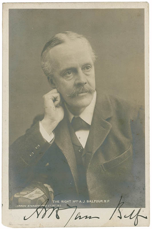 Image 1 for Prime Minister Arthur J. Balfour (Great Britain) - Picture Post Card Signed - HFSID 285211
