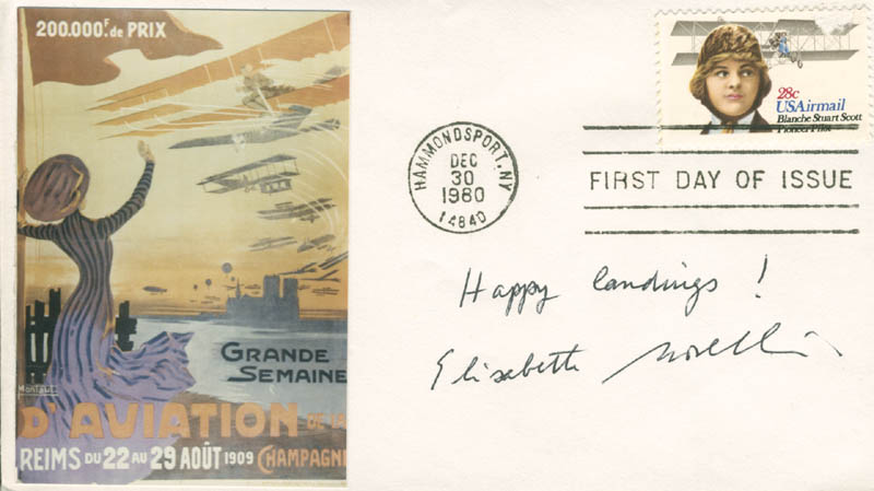 Image 1 for Elisabeth Boselli - Commemorative Cover Signed - HFSID 285223