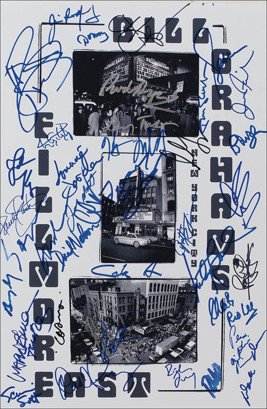 Image 1 for Fillmore East - Autographed Signed Poster with co-signers - HFSID 285251