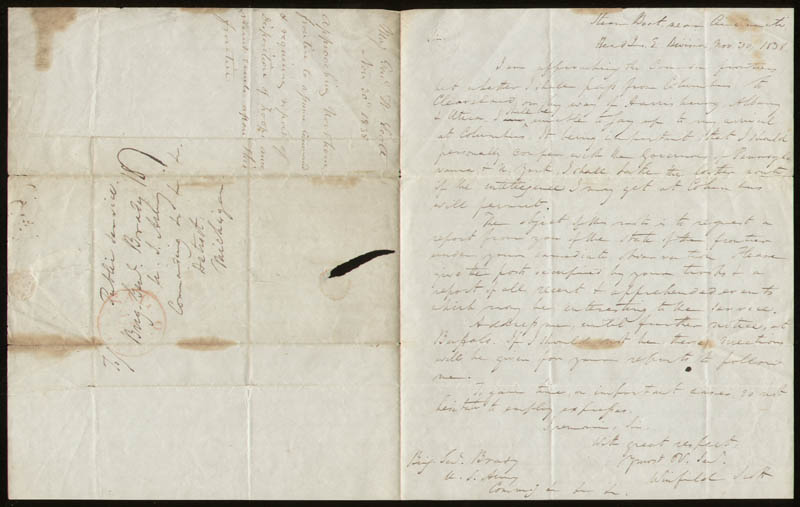 Image 1 for Lt. General Winfield Scott - Autograph Letter Signed 11/30/1838 - HFSID 285254