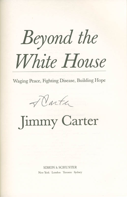 Image 1 for President James E. 'Jimmy' Carter - Book Signed - HFSID 285285