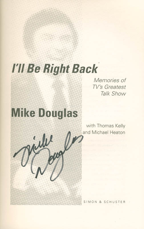 Image 1 for Mike Douglas - Book Signed - HFSID 285288
