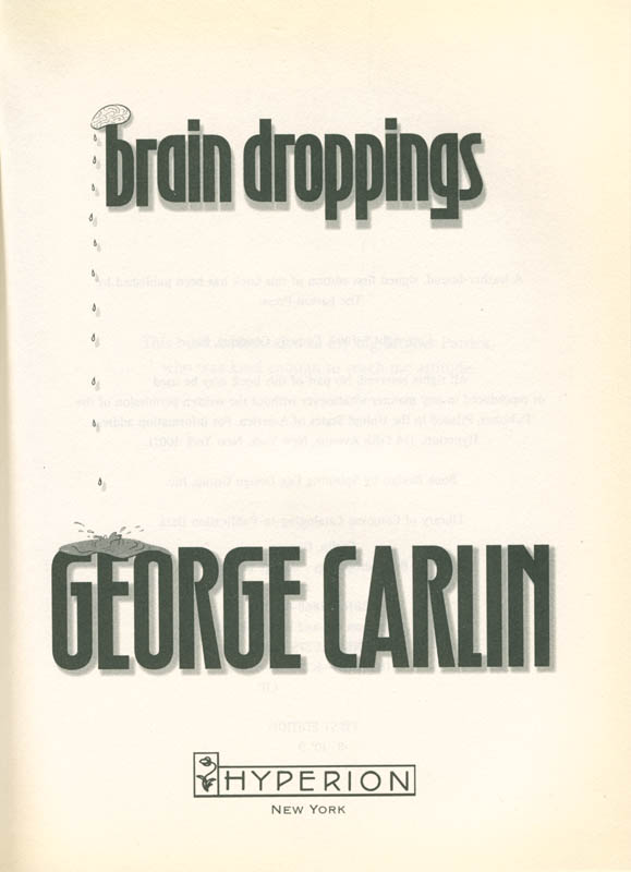 Image 4 for George Carlin - Inscribed Book Signed - HFSID 285290