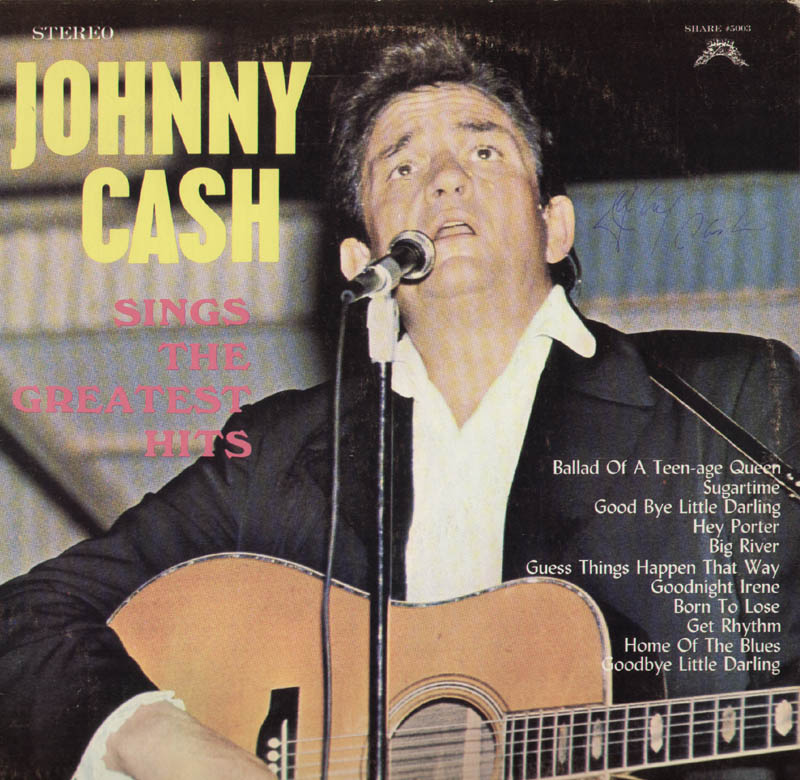 Image 1 for Johnny Cash - Record Album Cover Signed - HFSID 285300