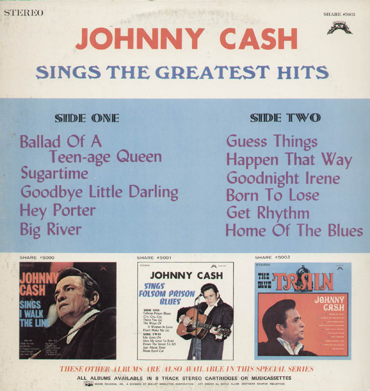 Image 3 for Johnny Cash - Record Album Cover Signed - HFSID 285300