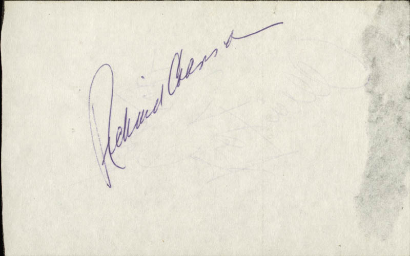 Image 3 for George Raft - Autograph Circa 1980 co-signed by: Richard Crenna, Alice Faye - HFSID 28533