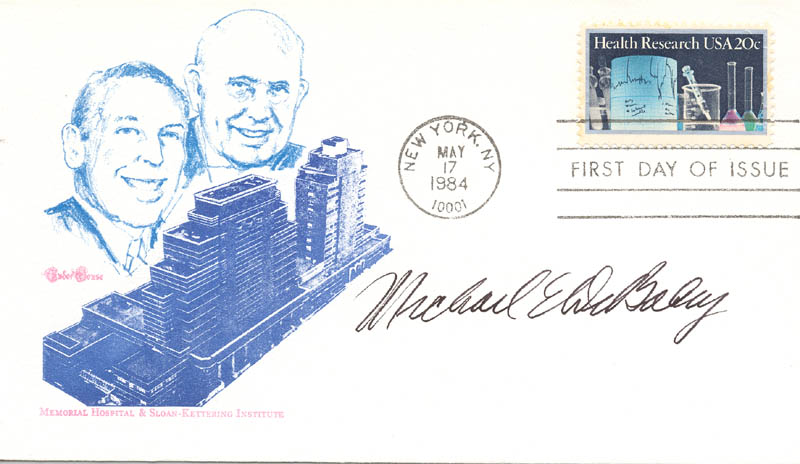Image 1 for Dr. Michael E. Debakey - First Day Cover Signed - HFSID 285393