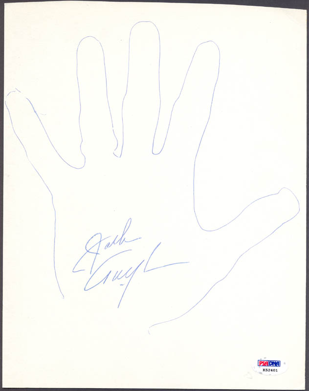 Image 1 for Jack Twyman - Hand/Foot Print Or Sketch Signed - HFSID 285451