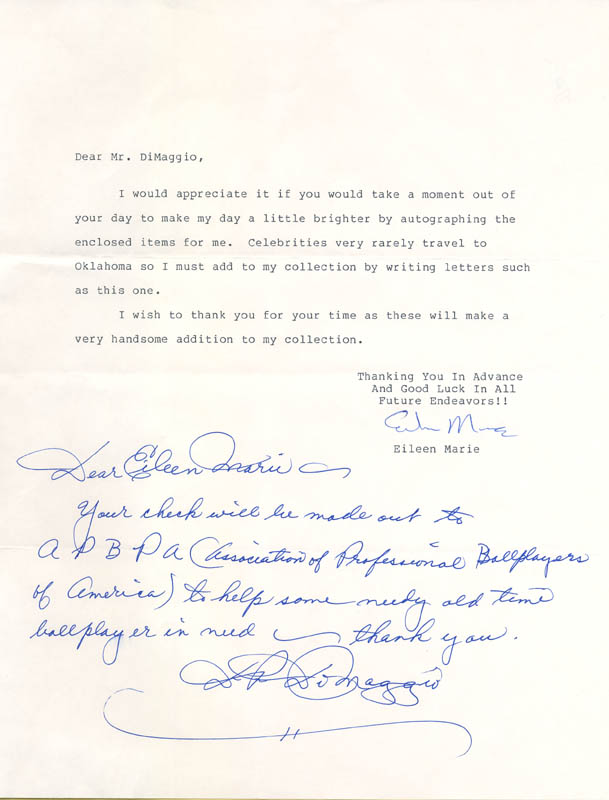 Image 1 for Dom Dimaggio - Autograph Letter Signed - HFSID 285452