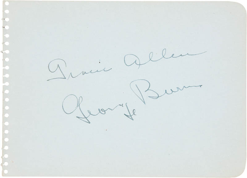 Image 1 for Gracie Allen - Autograph co-signed by: George Burns - HFSID 285494