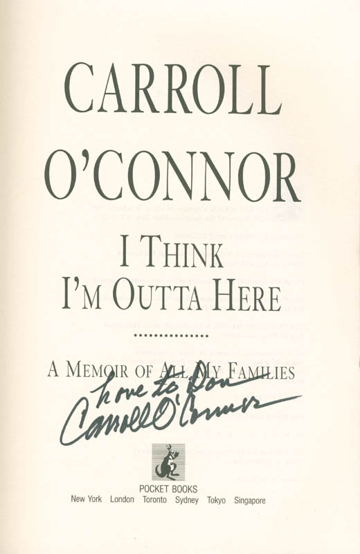 Image 1 for Carroll O'Connor - Inscribed Book Signed - HFSID 285500