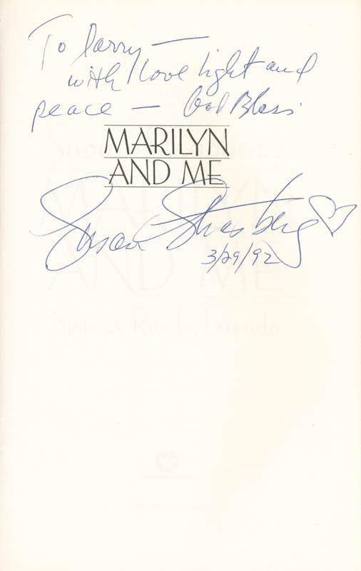 Image 1 for Susan Strasberg - Inscribed Book Signed 03/29/1992 - HFSID 285543