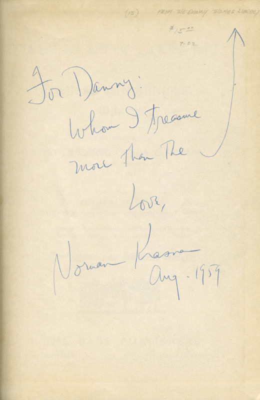Image 1 for Norman Krasna - Inscribed Book Signed 08/1959 - HFSID 285546