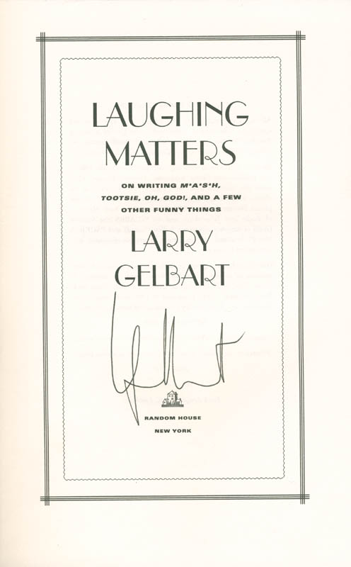 Image 1 for Larry Gelbart - Book Signed co-signed by: Beatrice 'Bea' Arthur - HFSID 285551