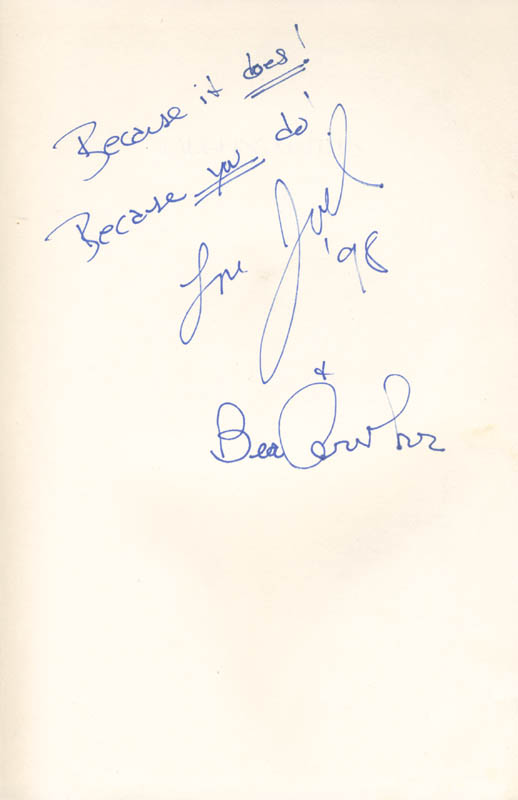 Image 3 for Larry Gelbart - Book Signed co-signed by: Beatrice 'Bea' Arthur - HFSID 285551
