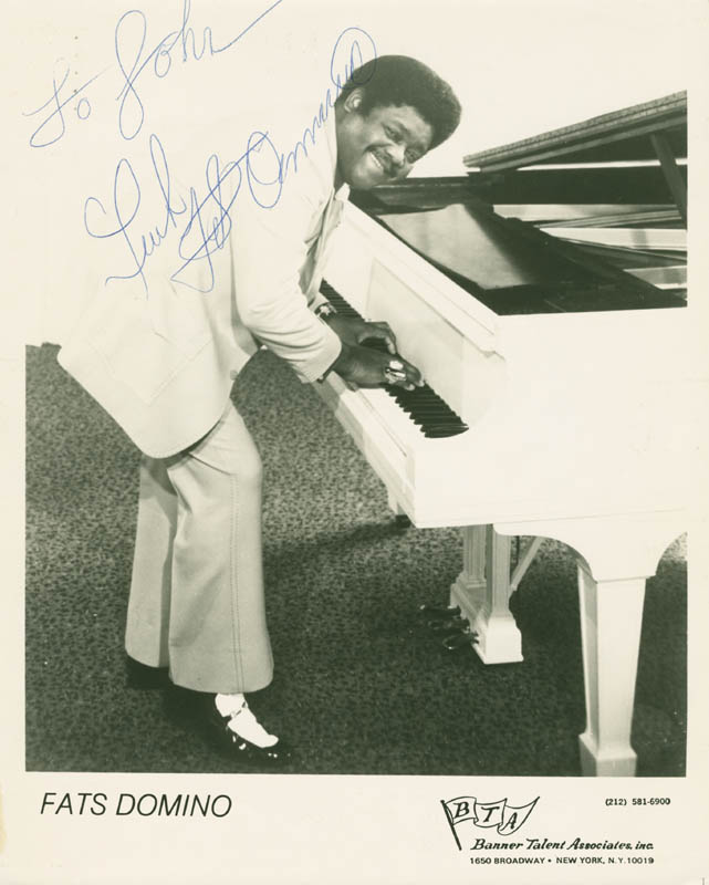Image 1 for Fats Domino - Autographed Inscribed Photograph - HFSID 285560