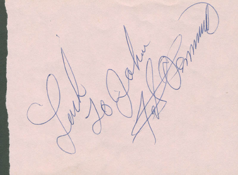 Image 1 for Fats Domino - Autograph Note Signed - HFSID 285564