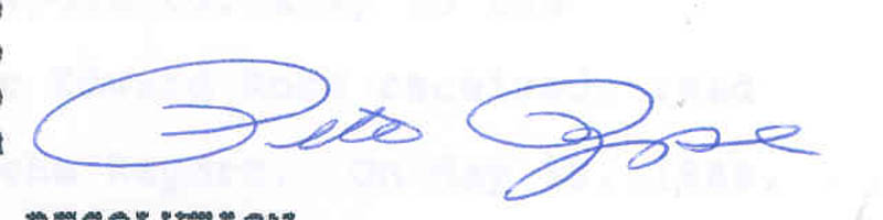 Image 3 for Pete Rose - Typescript Signed - HFSID 285575