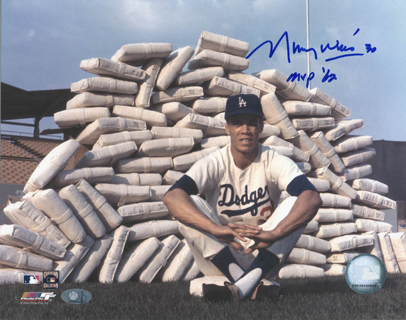 Image 1 for Maury Wills - Autographed Signed Photograph 1962 - HFSID 285609