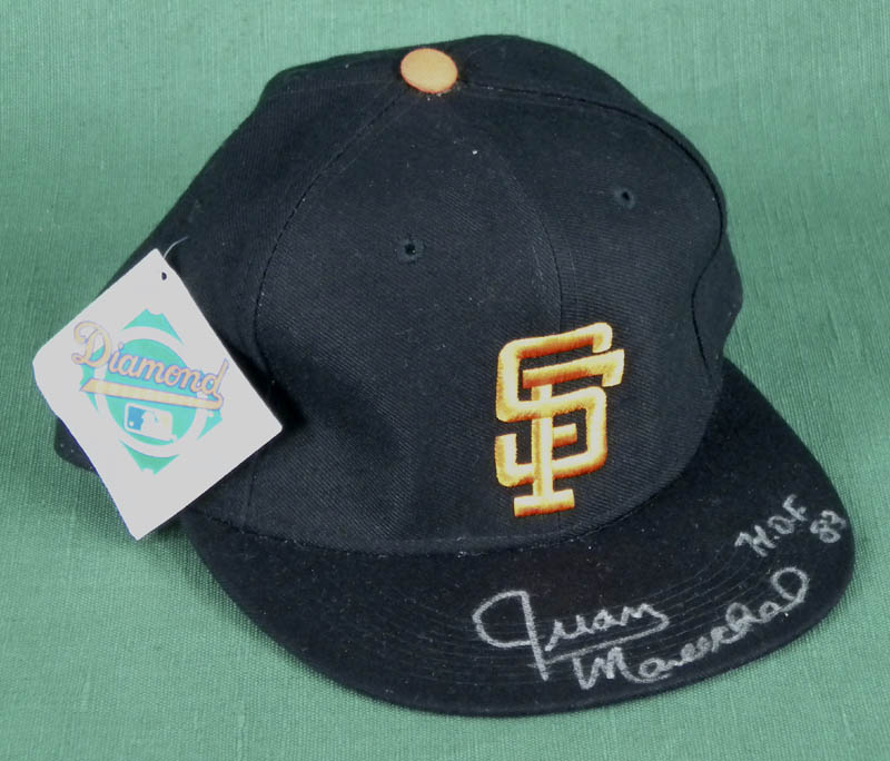Image 1 for The San Francisco Giants - Hat Signed co-signed by: Juan Marichal, Robby Thompson, Matt 'The Bat' Williams, Kirt Manwaring - HFSID 285690